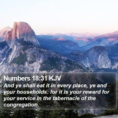Numbers 18:31 KJV Bible Verse Image