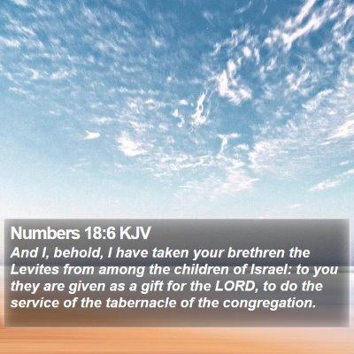 Numbers 18:6 KJV Bible Verse Image
