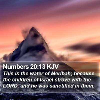 Numbers 20:13 KJV Bible Verse Image