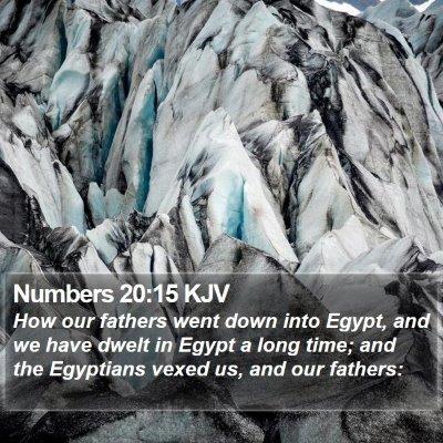 Numbers 20:15 KJV Bible Verse Image