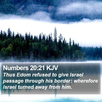 Numbers 20:21 KJV Bible Verse Image