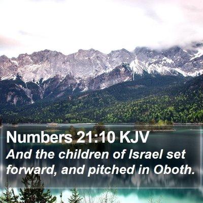 Numbers 21:10 KJV Bible Verse Image