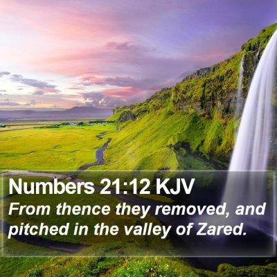 Numbers 21:12 KJV Bible Verse Image
