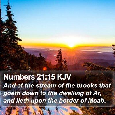 Numbers 21:15 KJV Bible Verse Image