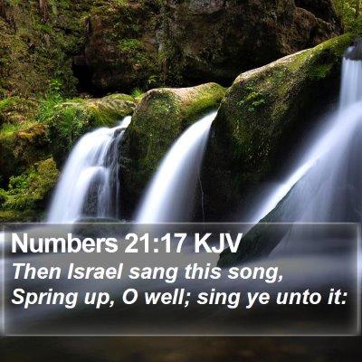 Numbers 21:17 KJV Bible Verse Image