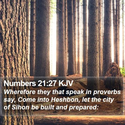 Numbers 21:27 KJV Bible Verse Image