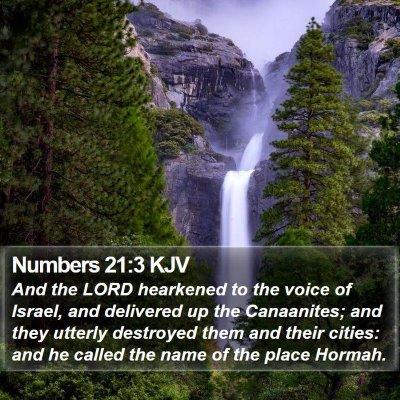 Numbers 21:3 KJV Bible Verse Image