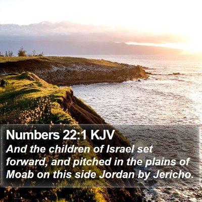 Numbers 22:1 KJV Bible Verse Image