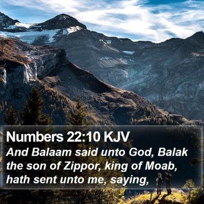 Numbers 22:10 KJV Bible Verse Image