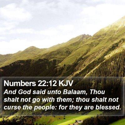 Numbers 22:12 KJV Bible Verse Image
