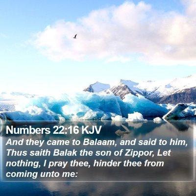 Numbers 22:16 KJV Bible Verse Image