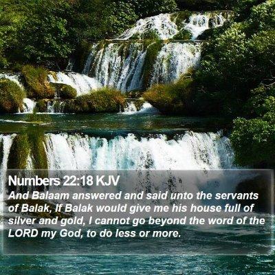 Numbers 22:18 KJV Bible Verse Image