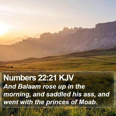 Numbers 22:21 KJV Bible Verse Image