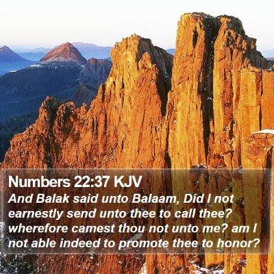 Numbers 22:37 KJV Bible Verse Image