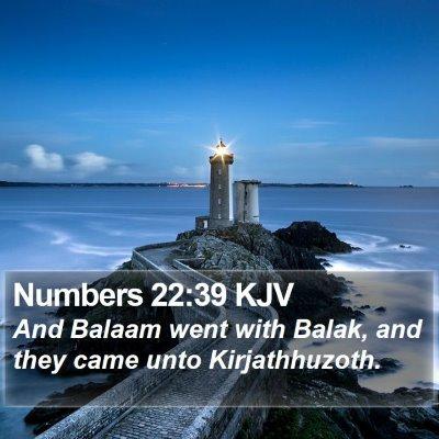 Numbers 22:39 KJV Bible Verse Image