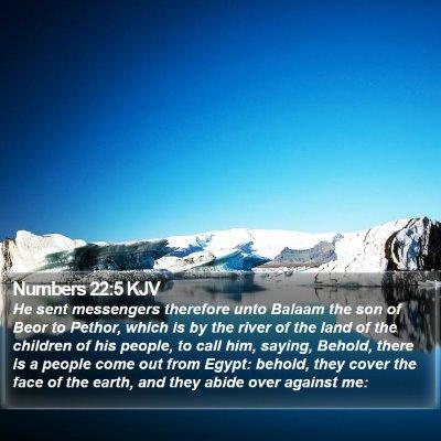 Numbers 22:5 KJV Bible Verse Image