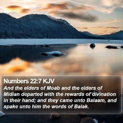 Numbers 22:7 KJV Bible Verse Image