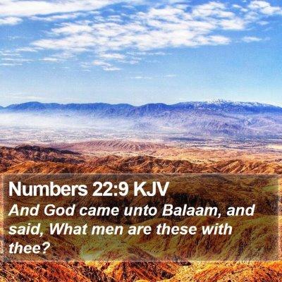 Numbers 22:9 KJV Bible Verse Image
