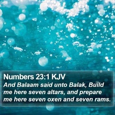 Numbers 23:1 KJV Bible Verse Image