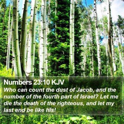Numbers 23:10 KJV Bible Verse Image