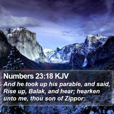 Numbers 23:18 KJV Bible Verse Image