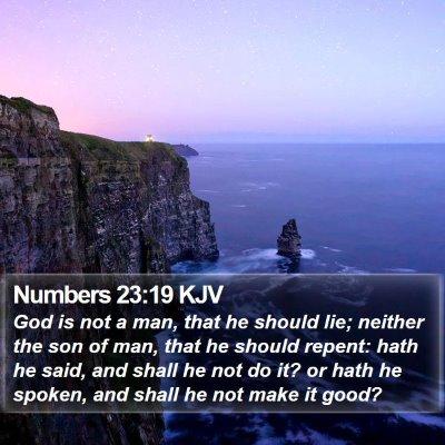 Numbers 23:19 KJV Bible Verse Image