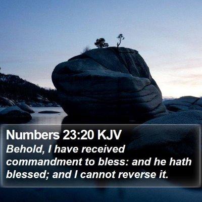 Numbers 23:20 KJV Bible Verse Image