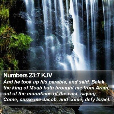 Numbers 23:7 KJV Bible Verse Image