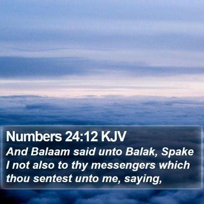 Numbers 24:12 KJV Bible Verse Image