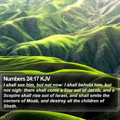Numbers 24:17 KJV Bible Verse Image