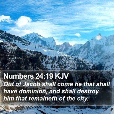 Numbers 24:19 KJV Bible Verse Image