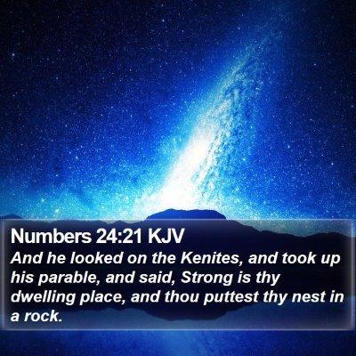 Numbers 24:21 KJV Bible Verse Image
