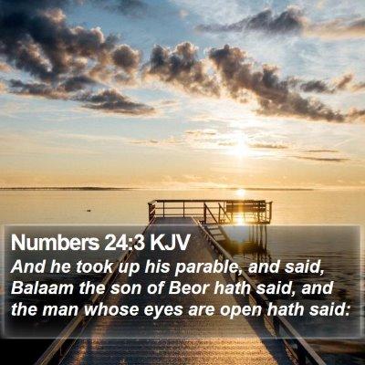 Numbers 24:3 KJV Bible Verse Image