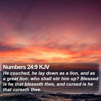 Numbers 24:9 KJV Bible Verse Image