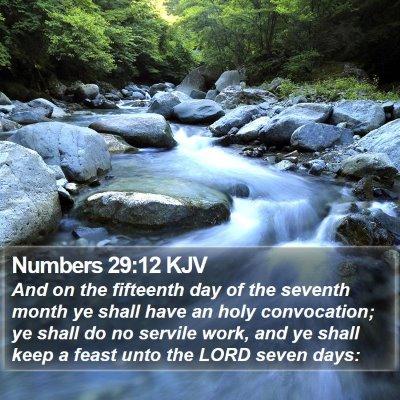 Numbers 29:12 KJV Bible Verse Image