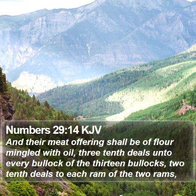Numbers 29:14 KJV Bible Verse Image