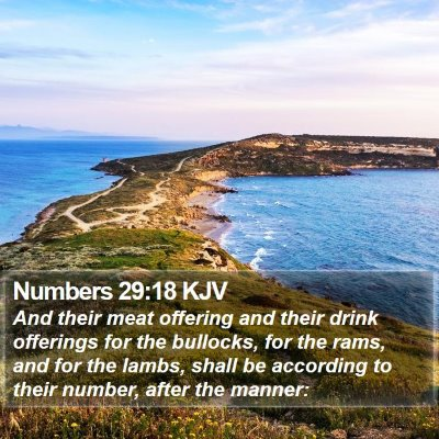 Numbers 29:18 KJV Bible Verse Image