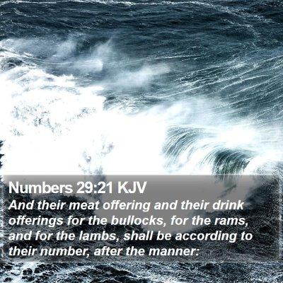 Numbers 29:21 KJV Bible Verse Image