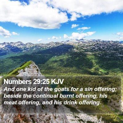 Numbers 29:25 KJV Bible Verse Image
