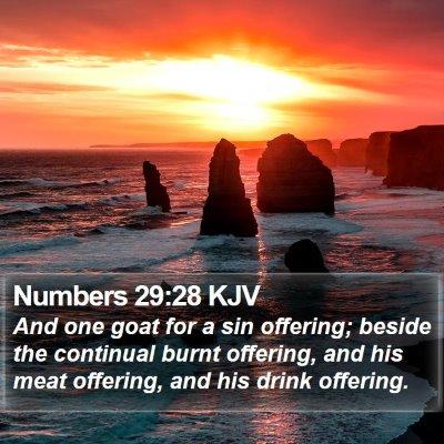Numbers 29:28 KJV Bible Verse Image