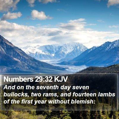 Numbers 29:32 KJV Bible Verse Image