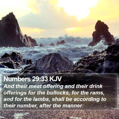 Numbers 29:33 KJV Bible Verse Image