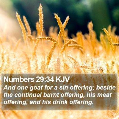 Numbers 29:34 KJV Bible Verse Image