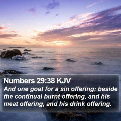 Numbers 29:38 KJV Bible Verse Image