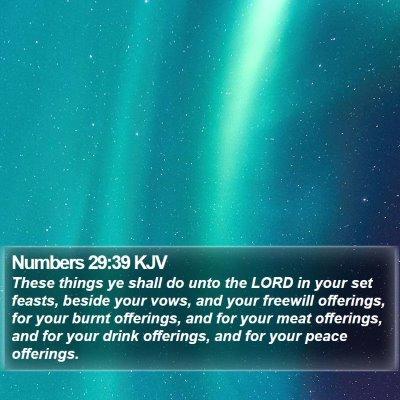 Numbers 29:39 KJV Bible Verse Image