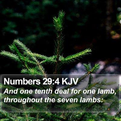 Numbers 29:4 KJV Bible Verse Image
