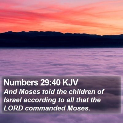 Numbers 29:40 KJV Bible Verse Image