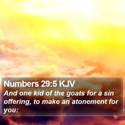 Numbers 29:5 KJV Bible Verse Image