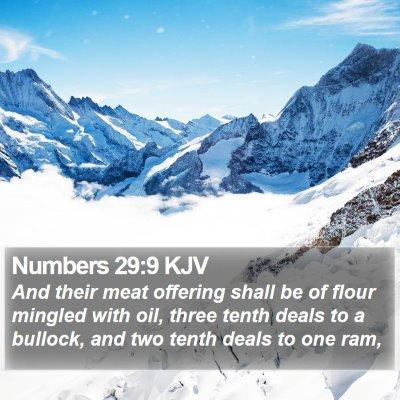 Numbers 29:9 KJV Bible Verse Image