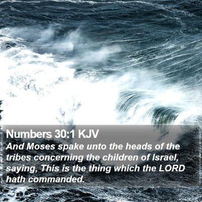 Numbers 30:1 KJV Bible Verse Image